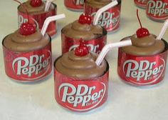 Dr. Pepper cupcakes...to darn cute and it's now a must make for my family!  We love our DP!
