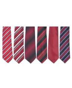 Selini NY Red Multi Pattern Men's Tie and Hanky Set