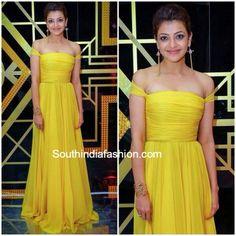 Kajal aggarwal in yellow frock