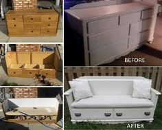 Couch made from dresser again, just with more detail:D