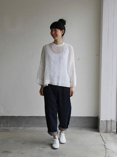 Big slip on blouse short/YAECA 11-11Wデニム 2
