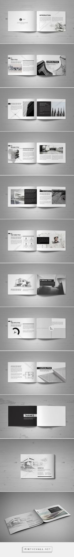 Minimal Modern Black & White Architecture Brochure by Mohammed Al Gharabli