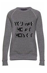 'You Had Me at Merlot' Sweatshirt    Bow & Drape    $81.26