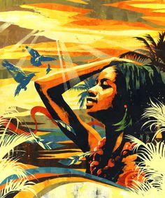 """Sunshine"" by Dragon76 Damien Hirst, Summer Heat, Online Gallery, Artsy Fartsy, Contemporary Art, Sunshine, Rocks, Illustration Art, My Arts"