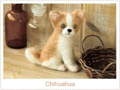 Japanese Felt Wool Dog Kit Package  Chihuahua by 1127handcrafter, $13.00