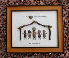 *** RESERVED FOR SALLY*** This listing is for two custom order and personalized Teacher pebble arts. The caption above each piece says: It takes a big heart to help shape little minds! Pebble Art #1 is personalized for Mrs. Kahl and Pebble Art #2 is personalized for Mrs. Bartlett.