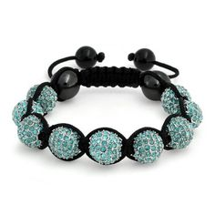 Bling Jewelry Inspired by Shamballa Jewels Bracelet Blue Aquamarine Color Crystal Bead 8mm Bling Jewelry. $24.99. weighs 33 grams. Blue crystal ball bracelet. Aquamaring colored crystal. Adjustable from 5 to 8in. Inspired by Shamballa Jewels