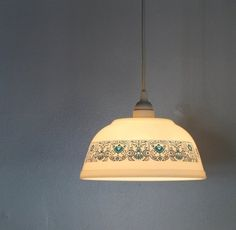 Creative Reuse: From Old Glass to New Pendant Lights - use a pretty, cut glass bowl for the bathroom light?