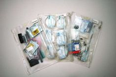 Binder Organization with Plastic Pouches.