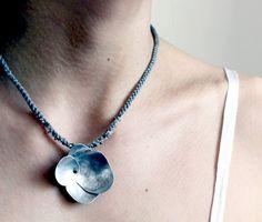 """Ophelia choker © lucie tales I like the fiber """"chain"""""""