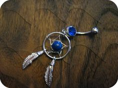Sapphire -- Dream Catcher Belly Button Ring