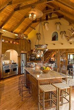 What a great kitchen and living space. Would be so cool for entertaining.