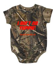 I Aint No Yuppie Realtree Camouflage Onesie Body Suit for Infants with Duck Dynasty Sayings