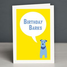 Birthday Barks Greeting Card by Forever Foxed