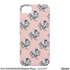 Rose Gold Embellished Elephant Phone Case