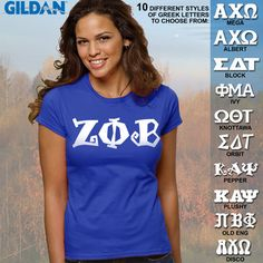 Zeta Phi Beta Ladies' SoftStyle Printed Tee $15.95 #Greek #Sorority #Clothing #Zeta  #ZetaPhiBeta