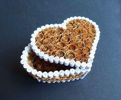 Caja regalo de papel en forma de corazón para san Valentin | Solountip.com