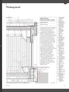 The Architects' Journal covers four houses by four architects, including two house extensions Section Drawing Architecture, Architecture Building Design, Concrete Architecture, Facade Design, Sustainable Architecture, Architecture Details, House Architecture, Architecture Colleges, Architecture Quotes