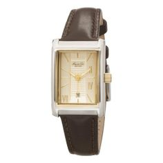 Kenneth Cole New York Women's KC2518 Wall Street Collection Strap Watch Kenneth Cole. $37.95. Water-resistant to 99 feet (30 M). Smooth brown leather band finished with adjustable buckle. Quality Japanese-quartz movement. Two-tone case with gold Ion plating accents. Gold-tone dial with roman numerals at 2,4,7 o'clock