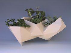 Geometric planter, would make a cute centerpiece!