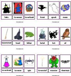 woordkaarten griezels