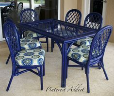 This patio set is an incredible makeover! Take a look at the original set.
