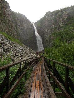 Njupeskär, les chutes les plus hautes en Suède - Parc National de Fulufjället