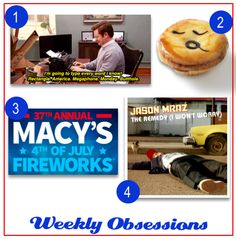 "Week 105: 27 Ways to Be as American as Ron Swanson, Pie Face, Macy's 37th Annual 4th of July Fireworks, ""The Remedy"" – Jason Mraz"