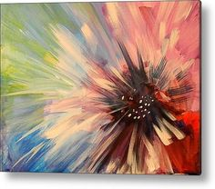 Painting flower acrylic art Ideas for 2019 Pastel Art, Abstract Flowers, Acrylic Flowers, Diy Flowers, Acrylic Art, Painting & Drawing, Painting Abstract, Painting Walls, Abstract Canvas Art