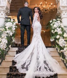 bf81daefc84 Vintage 2019 Lace Wedding Dresses 3D Floral Appliqued V Neck Wedding Dress  Plus Size Bridal Gowns Vestidos Robe De Mariée in 2019