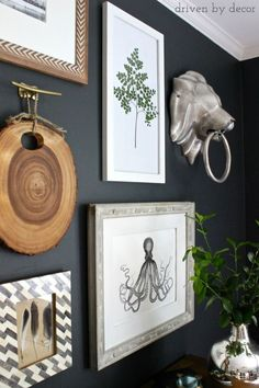 Tips for creating a gallery wall (includes great ideas for inexpensive art)