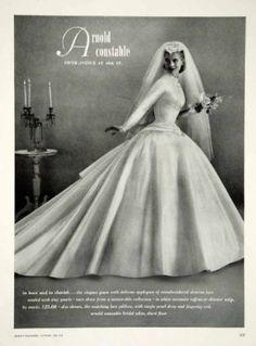 vintage 1956 wedding gown  #tznius