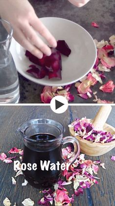 Discover revitalizing rose water benefits, its uses in cosmetic and in other are. Discover revitalizing rose water benefits, its uses in cosmetic and in other areas, DIY video and easy steps how to make your own rose water. Farmasi Cosmetics, Natural Cosmetics, Beauty Care, Diy Beauty, Herbal Remedies, Natural Remedies, How To Make Rose, Water Benefits, In Natura