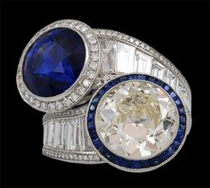 Platinum Diamond & Sapphire Twin Ring.  anyone out there feeling generous.  I'd love to have this