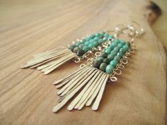 Unspoiled Zakynthos Beaded Earrings by SweetMintBoutique