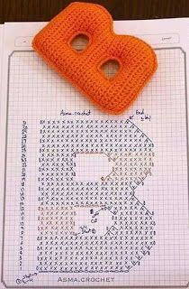 Crochet Letters, 3d Letters, C2c, Fabric Crafts, Macrame, Diy And Crafts, Crochet Toys, Knitting, Accessories