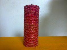 Estojo de Miçangas Vermelhas Lela Artes Artesanato lelaartes2014@gmail.com