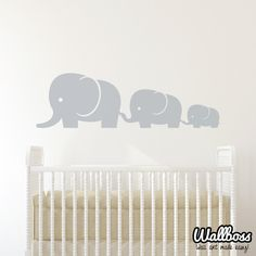 Elephant Family Baby And Mom Wall Decal Vinyl Wall Sticker Nursery by Wallboss on Etsy https://www.etsy.com/uk/listing/178757974/elephant-family-baby-and-mom-wall-decal