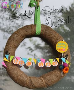 Back to School #Wreath
