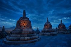 """the blue temple"" borobudur #indonesia"
