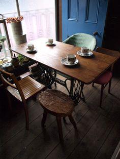 sewing machine table. beautiful ideas. Home Design Ideas