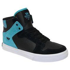 Supra KIDS Vaider chaussures de skateboard black turquoise white 65€ #supra #suprafootwear #suprashoes #shoes #footwear #chaussure #kids #boys #kid #boys #skate #skateboard #skateshop
