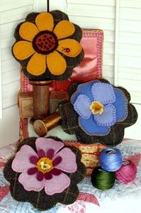 cute wool pincushions