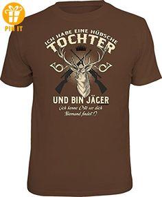 Original RAHMENLOS® T-Shirt für den besorgten Vater: Ich bin Jäger, und habe eine hübsche Tochter... - Größe XL - T-Shirts mit Spruch | Lustige und coole T-Shirts | Funny T-Shirts (*Partner-Link)