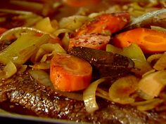 "Brisket with Carrots and Onions from FoodNetwork.com Best ever....and SO easy! Its the ""can't go wrong with the in-laws""..dinner idea!"