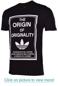 Adidas Originals Men's Origin of Originality Trefoil T-Shirt-Black #Adidas #Originals #Mens #Origin #Originality #Trefoil #T_Shirt_Black