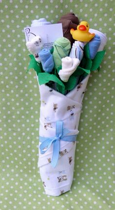 Boy's Baby Clothing Bouquet