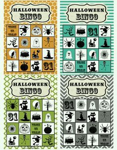 halloween bingo free printable great for class party games
