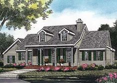 Plan W0612P: Country, Corner Lot, Traditional, Cape Cod House Plans & Home Designs