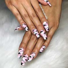 Best Nail Art - 22 Best Nail Art Designs for 2018 - Hashtag Nail Art camoacrylic. - Best Nail Art – 22 Best Nail Art Designs for 2018 – Hashtag Nail Art camoacrylicnails - Summer Acrylic Nails, Best Acrylic Nails, Acrylic Nail Art, Acrylic Nail Designs, Camo Acrylic Nails, Coffin Nails, Ongles Camouflage Rose, Camouflage Nails, Rock Nails